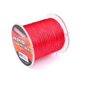 Harga 300M Fishing Line PE Four Strand Braid Fish-line Red 4.0/40LB - intl
