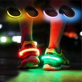 Harga Jiayiqi Night Safety LED Luminous Shoe Clip Light For Running Walking Cycling Colorful - intl