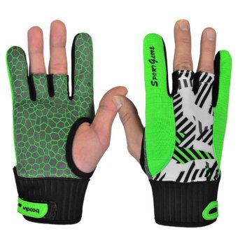 Bowling Cycling Gloves Mens Women's Summer Sports Bike Semi Finger Gloves Fitness Ball Silicone Non-Slip Gloves - intl