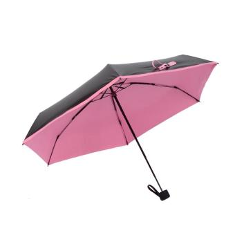 Harga Quality Mini Pocket Umbrella, Women Sunny and Rainy Mini Fashion Folding Umbrellas Pink - intl