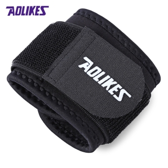 MiniCar AOLIKES A - 7936 Elastic Wrist Band Wrap Guard Strap Black(Color:Black) - intl