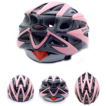 Harga LoveSport MOON MV29 Adult Bicycle Outdoor Cycling Helmet with Snap-on Visor Use Road Mountain Size M (Pink+Black)