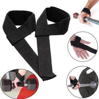 Harga PAlight 1 pair Strips Wrist Support Weightlifting Gym Training Bodybuilding Wrist Guard Straps Wraps Brace Band Protector - intl