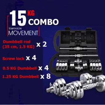 Pure Steel dumbbell combo Anti-rust/No bad smell/Good quality/ Two types of combo (15KG)