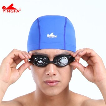 Harga Yingfa comfortable adult waterproof large swimming cap spandex swimming cap
