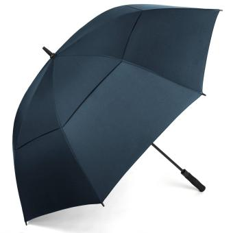 Harga Windproof Golf umbrella 62 Inch Extra Large Double Canopy Automatic Open Outdoor Rain&Wind Umbrellas----Navy Blue - intl