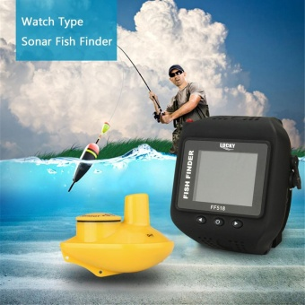 Harga LUCKY Watch Type Sonar Fish Finder Wireless Fishfinder 200FT 60M Range Portable Echo Fishing Sounder - intl