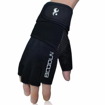Boodun Men Women Genuine Leather Gloves 7140170 - intl