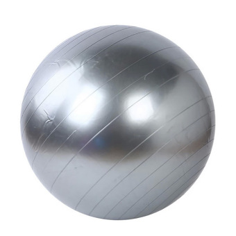Harga 45cm Yoga Gym Fitness Ball Anti Burst Birth Pregnancy Ball Burst Resistance Free Air Pump(Silver)