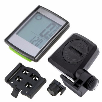 Hign Quality Cycling Computer With Cadence & Heart Rate Meter Speedometer Wireless LCD Bike Speedometer - intl