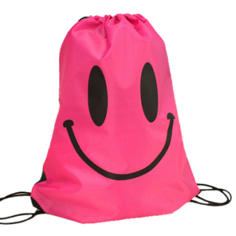 Harga Korea ulzzang Harajuku style yellow smiley beach bag drawstring backpack smile sports waterproof bag