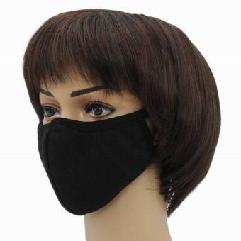 Harga EOZY New Fashion Outdoors Eagle Mouth Shape Soft Cotton Mouth-muffle Anti-dust Face Mouth Mask (Black)