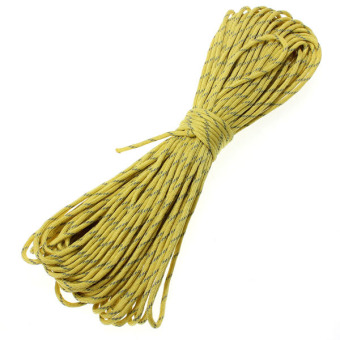 10ft 3M Reflective 550 Nylon Paracord Parachute 7 Cord Lanyard Strand Core yellow - Intl