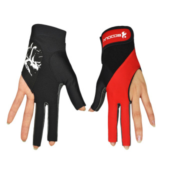 Boodun/Burton billiard accessories High Elastic and comfortable sweat Lycra Three Finger billiard gloves single only installed