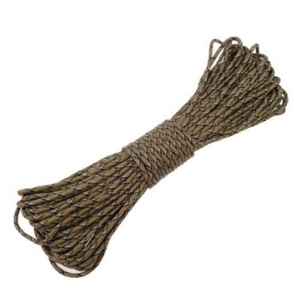 Easybuy Paracord Parachute Cord Lanyard Mil Spec Type III 7 Strand Core 100FT Desert CAMO