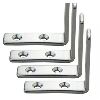 Harga 4pcs 4-Holes Marine Boat Stainless Steel Corner Brace Joint Structural Right Angled Bracket Hinge - Intl