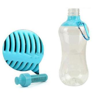 Hang-Qiao 550ML Portable Water Purifier Hydration Filter Bottle (Blue)
