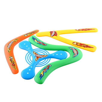 OEM 4Shapes Lightweight Outdoor Genuine Returning Sporting Throwback Kids Boomerang - intl