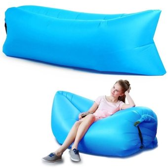 Harga Inflatable Lounge Portable Waterproof Indoor Outdoor Beach Air Sleeping Sofa Bed Couch Dream Chair Blue - intl