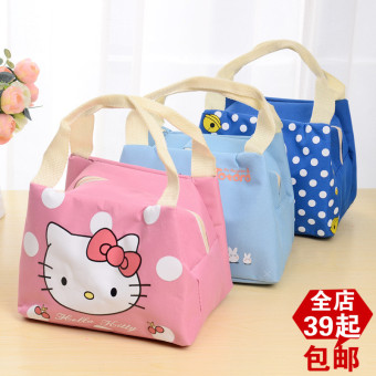 Harga Korean version of the cute meng things delivery waterproof oxford fabric lunch bag lunch cooler bag lunch bag with zipper