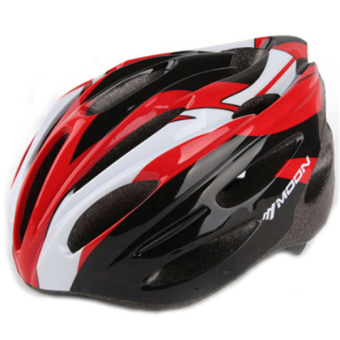 Harga LoveSport Moon MV26 Cycling Bicycle Adult Mens Bike Helmet Carbon Color With Visor Mountain Size L (Red)