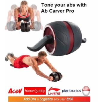Harga Ab Carver Pro/Core Roller/ Fitness Roller/Abdominal Trainer (Maroon)