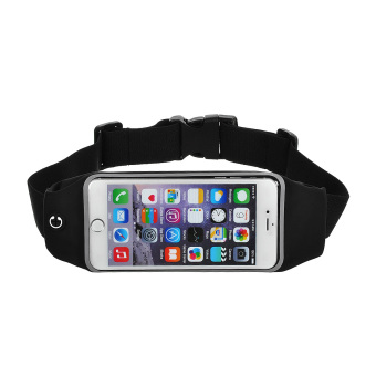 Harga Mini Smile Outdoor Sports Adjustable Nylon Waist Band for Iphone 6 Plus - Black