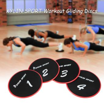Harga KYLIN SPORT Workout Gliding Discs Glide Exercise Core Slider Cross Training Abdominal Workout Core Sliding Disc - intl