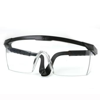 LALANG Goggles NERF Telescoping Temples Grinding Dust Anti-Impact Protection Goggles Labor (Black) - Intl
