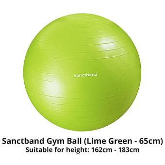 Harga Sanctband Anti Burst Gym Ball (65cm - Lime Green)