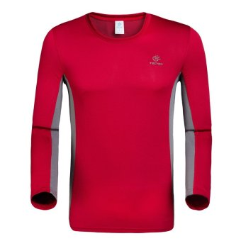 Outdoor Long Sleeve Anti-UV Men's T-shirts(Red) (Intl)