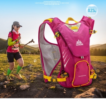Harga 8L Close-Fitting Hydration pack water backpack vest for Hiking Running Biking (Rose Red) - intl