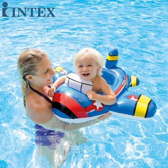 INTEX floating ring life buoy ring child swim ring equipment baby children's swimming laps 1-2-year-old seat ring fire car