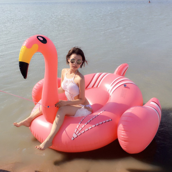 Harga Large flamingo pink Swan unicorn hot spring water inflatable horse Floating Bed floating row child adult swim ring