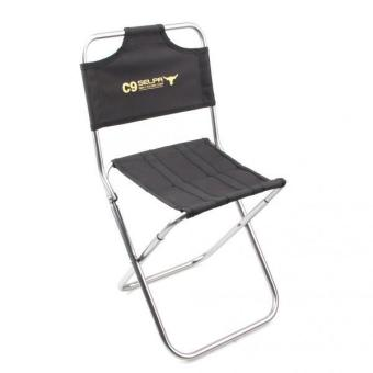 MagiDeal 2pc Fishing Camping Hiking Folding Chair Foldable Garden Stool with Backrest - intl