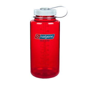Nalgene Wide Mouth Water Bottle 32oz (Outdoor Red)