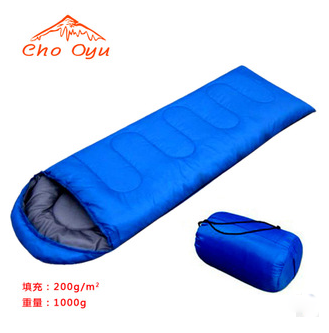 Outdoor 1 kg adult sleeping bag outdoor travel camping ultra-lightlunch office envelope hooded sleeping bag