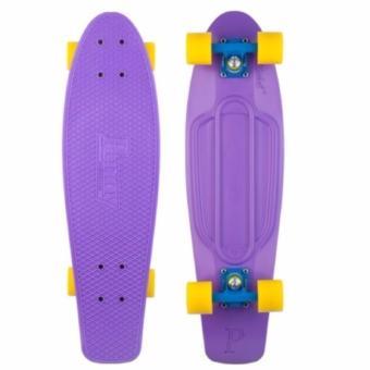 Penny Style Board Skateboard 22 inch (Purple Deck with Yellow Wheels)
