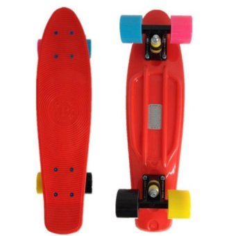 Penny Style Board Skateboard 22 inch (Red with Coloured Wheels)