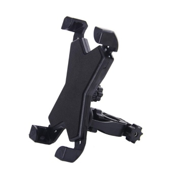 Phone Mount Holder Bicycle Motorcycle Stand for Smartphone (Black) - intl
