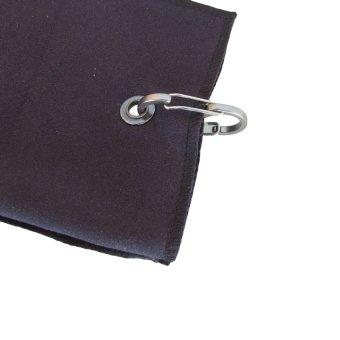 Portable Tri-fold Soft Golf Towel 40*65CM Black(Export) - 3
