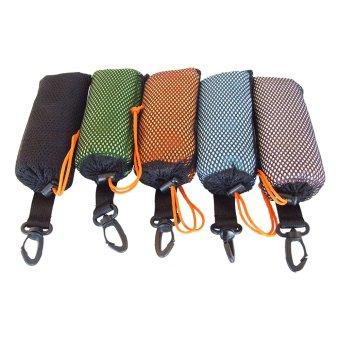 Portable Tri-fold Soft Golf Towel 40*65CM Black(Export) - 2