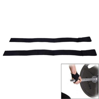 Power Weight Lifting Training Gym Hook Grips Straps Wrist Support Lift - intl - 2
