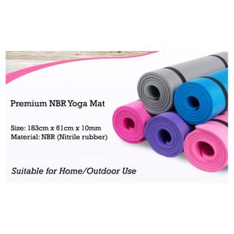 Purple Premium NBR Yoga Mat | Thick Soft and Portable Yoga Mat |Fast Delivery - 4