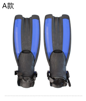 Silicone soft swimming snorkeling flippers