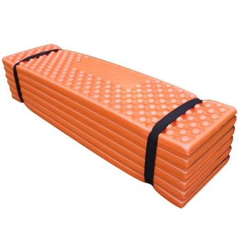 Sunyoo-Convenient Folding Outdoor Picnic Camping Sleeping Mat Mattress Waterproof Pad Rest Cushion New(Orange)