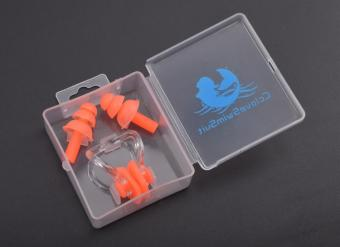 Swimming nose clip men and women ear silicone earplugs
