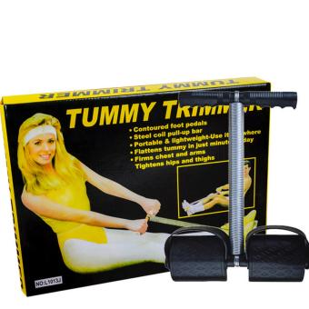 Tummy Trimmer/flattens tummy in just minutes a day/ steel coil pull-up bar