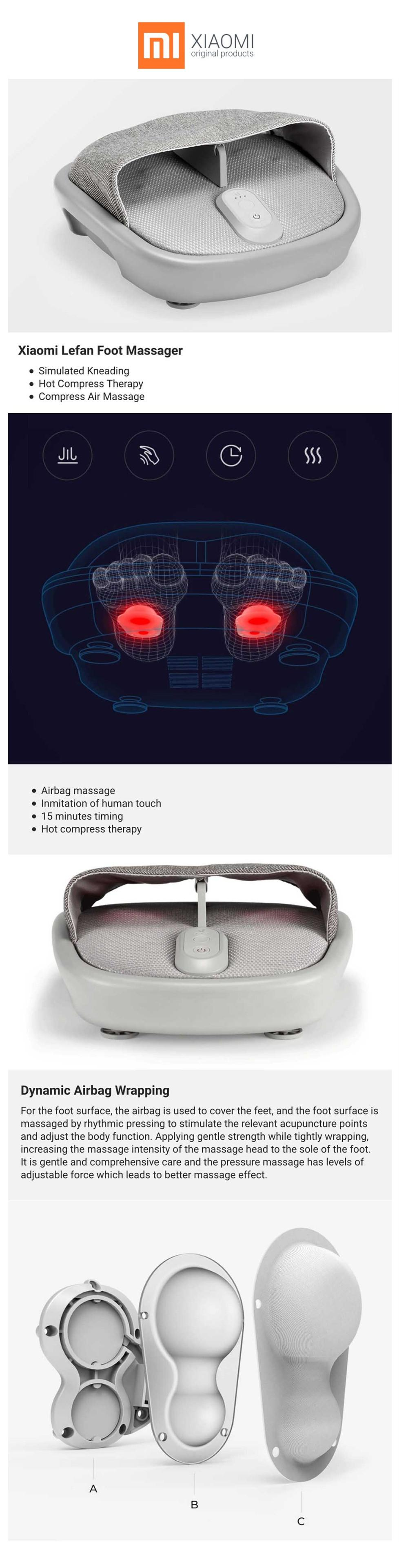 Enjoyable Set Xiaomi Momoda Foot Massager Foot Stool Scraping Massage Hot Compress Warm And Relieving Evergreenethics Interior Chair Design Evergreenethicsorg