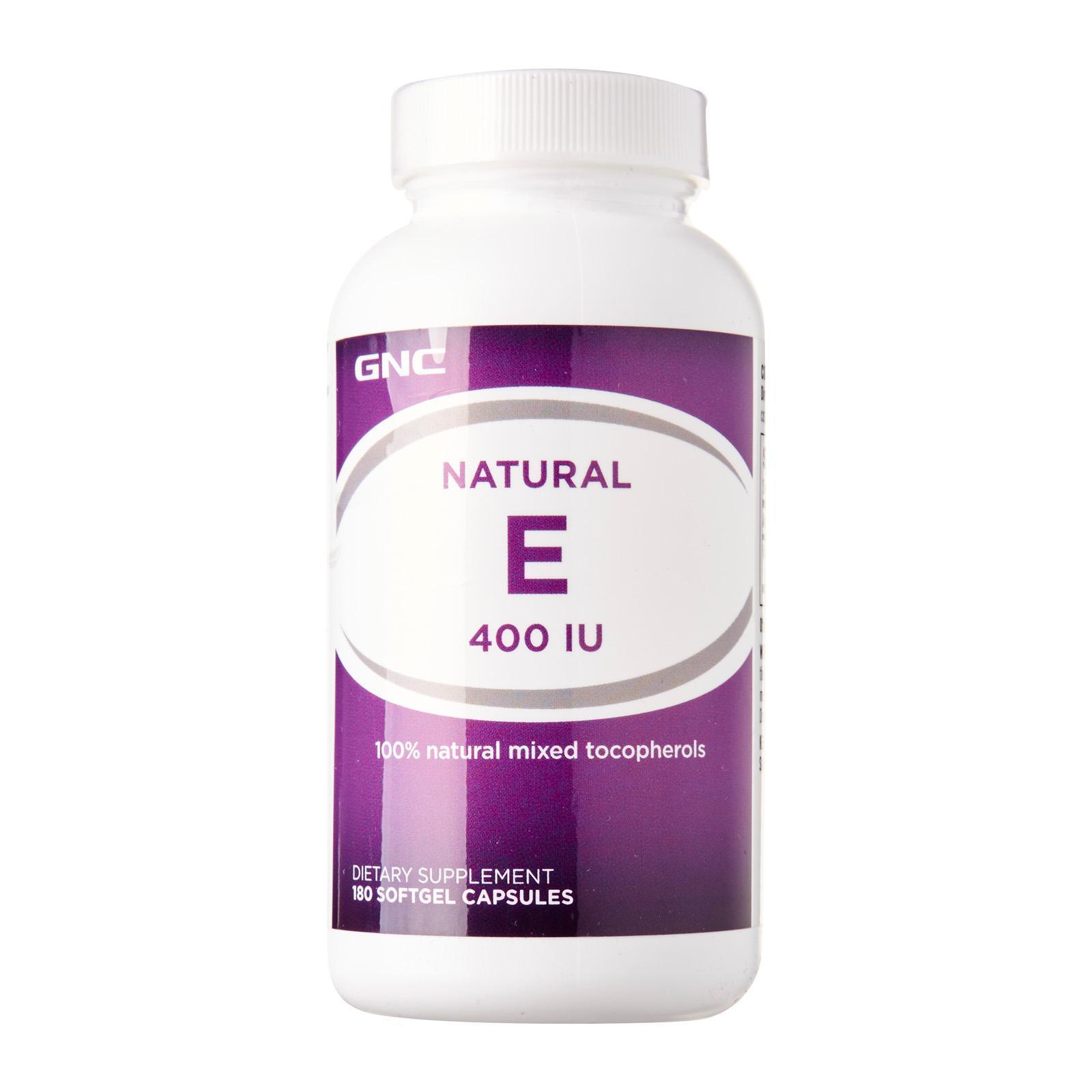 GNC Natural E 400 (180 Softgels)